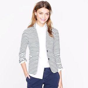 // j.crew maritime nautical cotton blazer //